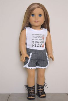 Graphic top American Girl doll Clothes by EliteDollWorld on Etsy