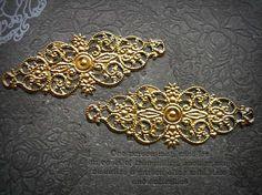 20 pcs iron  plating gold  flower Filigree by Fashionandantique, $3.50