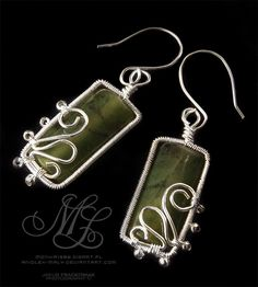 Like the rectangular stones in these earrings and the swirls are just enough. Labedzie by *MonikaLaskowska on deviantART