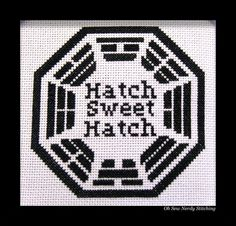 Dharma Initiative 'Hatch Sweet Hatch' Cross Stitch