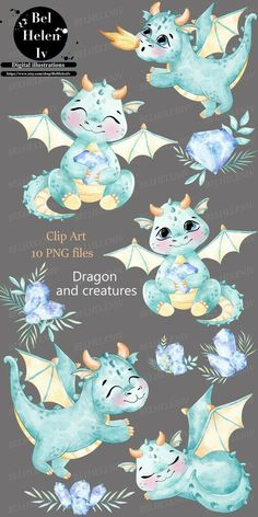 Watercolor Animals, Watercolor Cards, Kindergarten Drawing, Cute Little Kittens, Party Invitations Kids, Cute Dragons, Clip Art, Happy Paintings, Theme Noel