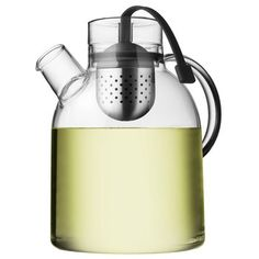 Glass Teapot with Infuser. Norm Glass Kettle Teapot uniquely embraces the meeting of two traditions - the Asian zen philosophy and modern Scandinavian design. $60