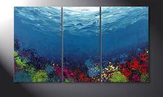 Das Wandbild 'Coral Garden' 140x80cm