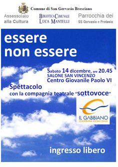 Essere Non Essere a San Gervasio http://www.panesalamina.com/2013/19399-essere-non-essere-a-san-gervasio.html
