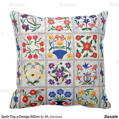 Quilt Top 3 Design Pillow