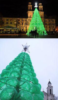 40,000 plastic bottle christmas tree!