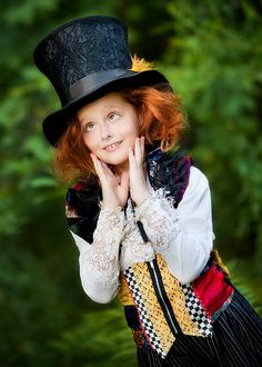 Alice in Wonderland Mad Hatter Girls Costume Halloween Party