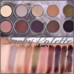 #Swatches Paleta SMOKY PALETTE de ZOEVA @zoevacosmetics @maquillalia…