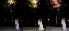 Stunning wedding fireworks in the Florida Keys at the Coconut Cove Resort.  www.eddieb.com/Keys_DJ.aspx