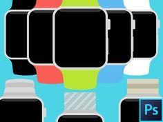 Apple Watch Flat PSD Template