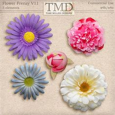 Flower Frenzy Vol 11::30/07 - Wonderful Wednesday::Memory Scraps {CU}