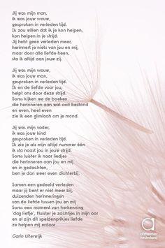 Dit prachtige gedicht maakte Carin Uiterwijk na de eerste aflevering van Muziekherinneringen