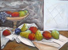 signed US original listed AskArt Kevin Doyle European Modern still life fruit NR #Impressionism