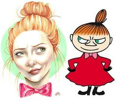 I've seen drawings of Disneyprincesses on the internet, how they would look if they were real people. I got inspired and did one of my own. How would the characters of Moomin look if they were real people. First up: Little My or Lilla My as we call her in Sweden #moomin #cartoontoreality #drawing #mumintroll #lillamy #littlemy #art