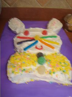 Easter Bunny Cake...made by Kaylee!