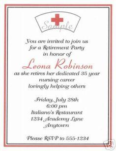 20 Custom Retirement Party Invitations Nursing Nurse   eBay