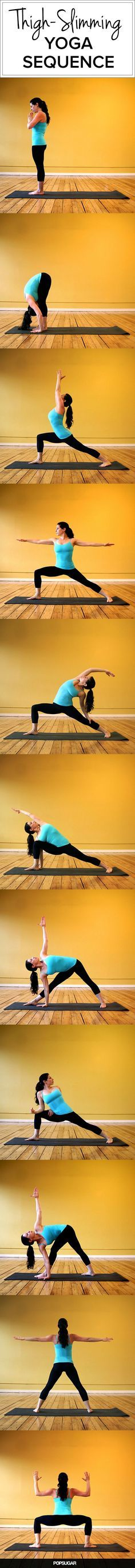 The triangle pose is helpful for strengthening your neck