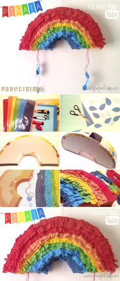 Cómo hacer una piñata con materiales reciclados | http://papelisimo.es/como-hacer-una-pinata-de-papel-con-materiales-reciclados-paper-pinata-diy/
