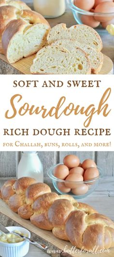 This is the ultimate multipurpose Soft and Sweet Sourdough Rich Dough for making Brioche, Challah, Buns, Rolls, Pastries and more! Dough Starter Recipe, Sourdough Starter Discard Recipe, Sourdough Recipes, Bread Recipes, Real Food Recipes, Sourdough Brioche Recipe, Starter Recipes, Skillet Recipes, Sourdough Rolls