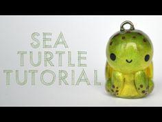 Kawaii Sea Turtle polymer clay charm tutorial