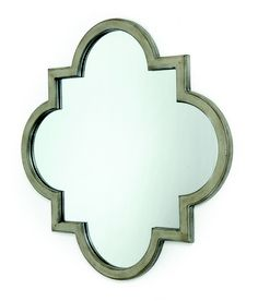 Wood Wall Mirror - Grey