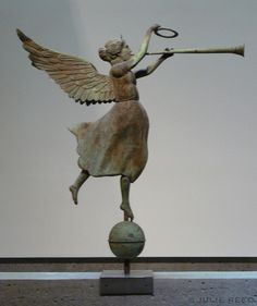 When in NYC, a visit to the American Folk Art Museum should definitely be on your list! This was my first visit to this museum ~ while it . Statue Ange, Statues, Lightning Rod, I Believe In Angels, Weather Vanes, Angels Among Us, Garden Art, Art Museum, Folk Art