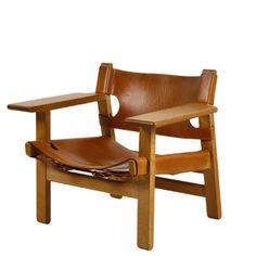 The Spanish Chair by Danish designer Børge Mogensen - office chair? Danish Design, Modern Design, Vintage Furniture, Furniture Design, Outdoor Furniture, Mid Century Modern Furniture, White Houses, Interior Inspiration, Interior Design
