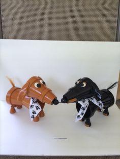 Clay pot (flower pot) Dachshund dog