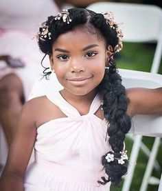 44 Sweet Daughter Hairstyles Ideas to Copy Now Breathtaking 44 Sweet Daughter Hairstyles Ideas to Co Wedding Hairstyles For Girls, Kids Braided Hairstyles, Flower Girl Hairstyles, Black Girls Hairstyles, Junior Bridesmaid Hairstyles, Fishtail Braid Hairstyles, Simple Hairstyles, Hairstyles 2016, Formal Hairstyles