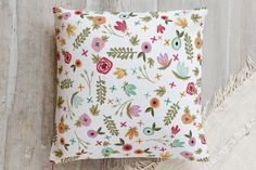 Springtime Floral Pillow by Kelsey Carlson | Minted