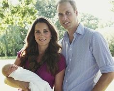"""Catherine, and now little George are my priorities. And Lupo"". - Prince William - released 8-19-13 from candids taken by the Middleton family...the first family 'portraits'"