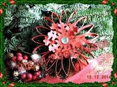 Adorno navideño reciclando tubos de papel higienico | Manualidades