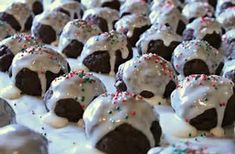 Pepper cookies are a drop cookie that finishes like a shortbread. An icing top dressed with sprinkles is the traditional decoration.