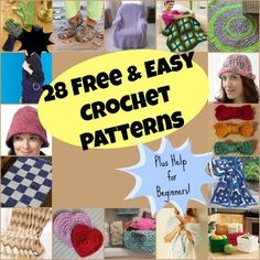 28 Free Easy Crochet Patterns and Help for Beginners + 4 Bonus Patterns (www.favecrafts.com - By: Caley Walsh)