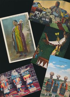 Indian Native American postcard lot instant by mudintheUSA on Etsy, $6.50