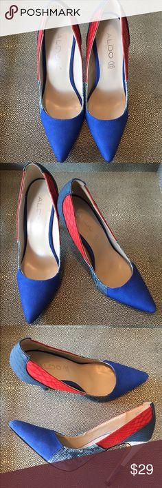 Aldo Snake-Texture Multicolor Heels Snack Texture Multicolor Pumps. 4 inch Heeks Aldo Shoes Heels