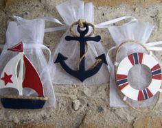 Bolsos de bebé náutica ducha Favor cumpleaños por FavorsByGirlybows