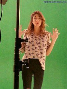 #TiniStoessel grabandoo #Violetta3 en #Barcelona