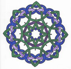 Blue Green Star Mandala Page Can Be Found In Meditation Coloring Book By Barnes And Noble