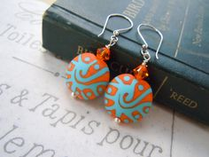 Southwest Style Lampwork Beads Silver Earrings by gristmilldesigns, $22.95 #pcfteam