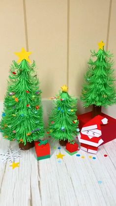 Please Subscribe My YouTube channel & help me to grow link in Bio Diy Paper Christmas Tree, Christmas Trees For Kids, Christmas Arts And Crafts, Christmas Origami, Christmas Projects, Handmade Christmas, Holiday Crafts, Christmas Decorations Diy Crafts, Christmas Makeup