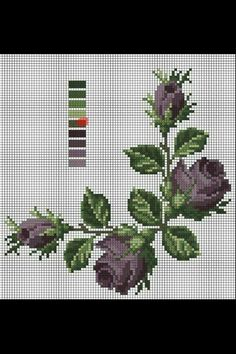 This Pin was discovered by Eli Cross Stitch Fruit, Cross Stitch Boards, Cross Stitch Rose, Cross Stitch Flowers, Cross Stitch Kits, Counted Cross Stitch Patterns, Cross Stitch Designs, Embroidery Stitches, Embroidery Patterns