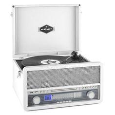 auna Epoque 1907 Retro Audio System Record Player