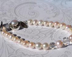 fatdog Wedding Collection Necklace  BSN209 Pearl and Crystal