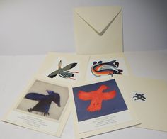 """Five Hand crafted Inuit blank Cards.  Cape Dorset Prints. 6""""x6"""", Wedding Card Stock paper (4) by MANITOUARTS on Etsy https://www.etsy.com/ca/listing/486234267/five-hand-crafted-inuit-blank-cards-cape"""