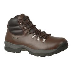 Hi-Tec Eurotrek Waterproof Men's Booot Entry level full grain leather waterproof boot from HI-TEC. Features include soft padded collar for extra comfort, EVA cushioning, durable outsole and board lasted construction with Steel shank. £34.95