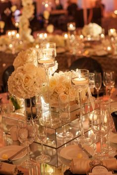 Gorgeous crystal garland centerpieces with purple flowers for wedding table decor design. Description from pinterest.com. I searched for this on bing.com/images