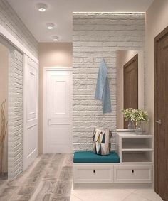 design and decor of the hallway interior for the hallway hallway interior to decorate the hallway Flur Design, Plafond Design, Hallway Decorating, Interior Decorating, Corridor Design, Hall Furniture, Hallway Designs, Home Staging, Design Case