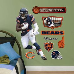 Fathead Chicago Bears Alshon Jeffery Jr Graphic - Wall Sticker Outlet