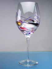 psuedo stain glas paint on wine glasses - Google Search